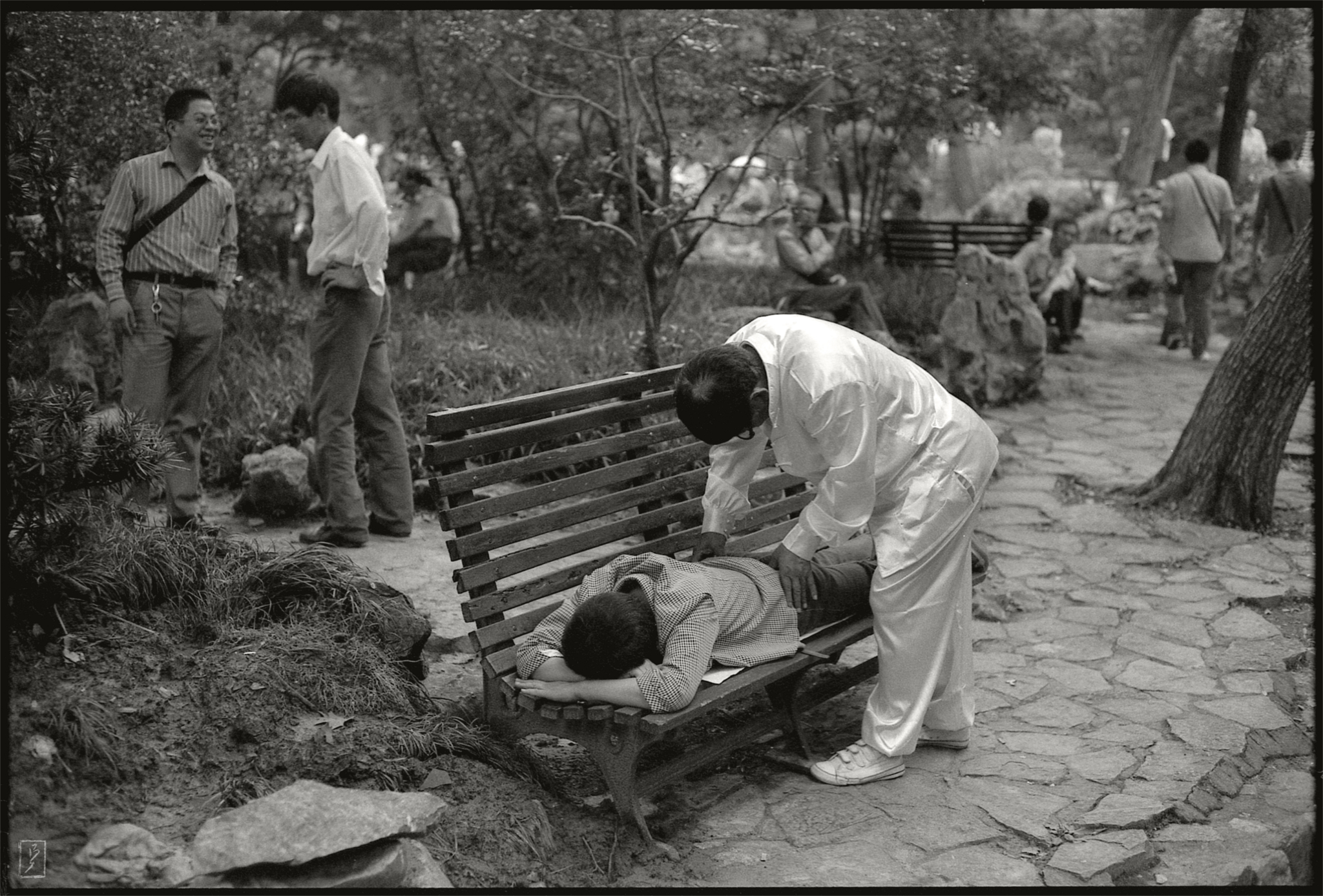 Lu Xun park (鲁迅公园): Massage against all kinds of ailments.