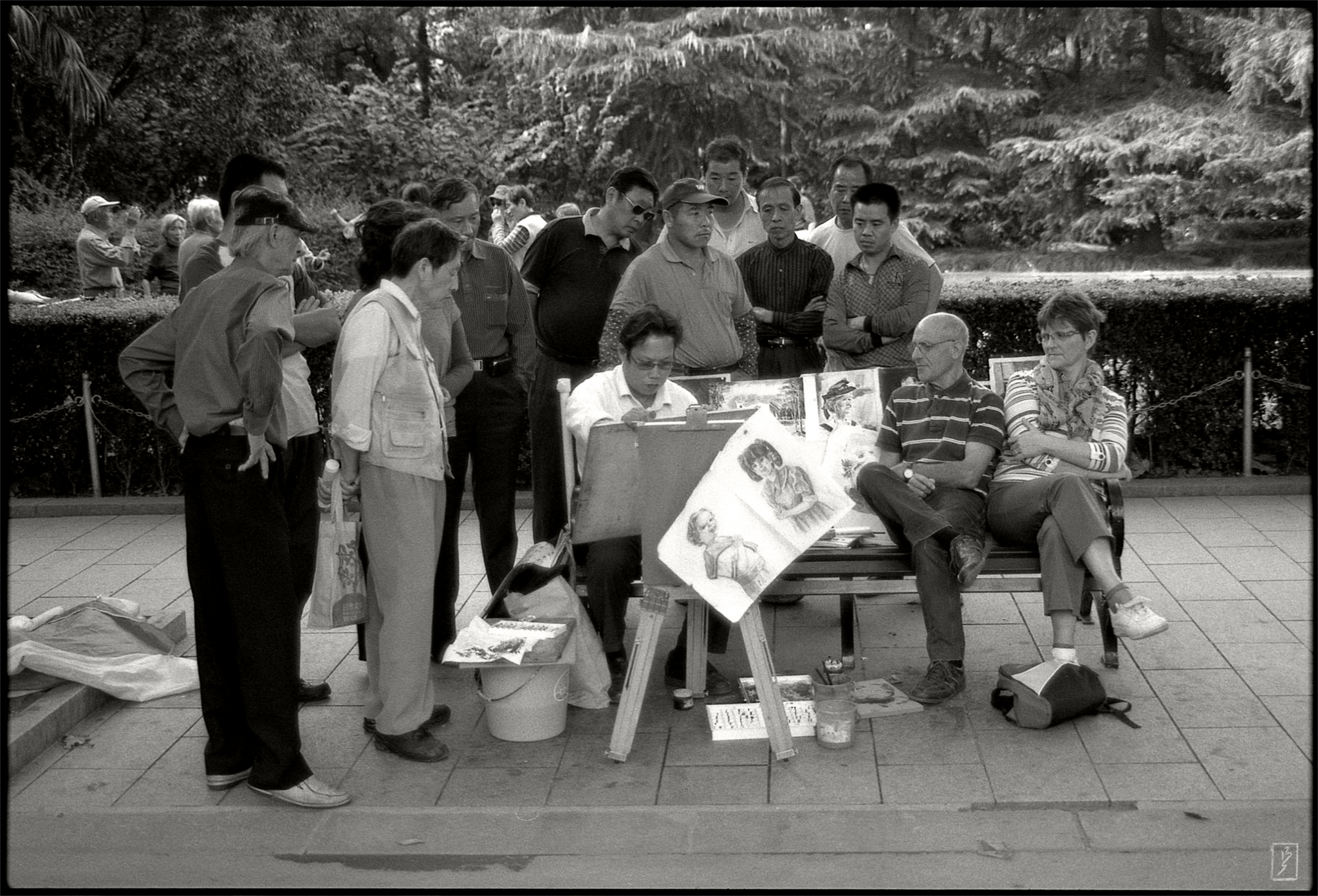 """Fuxing park (复兴公园): """"Drawn in front of a live audience."""""""